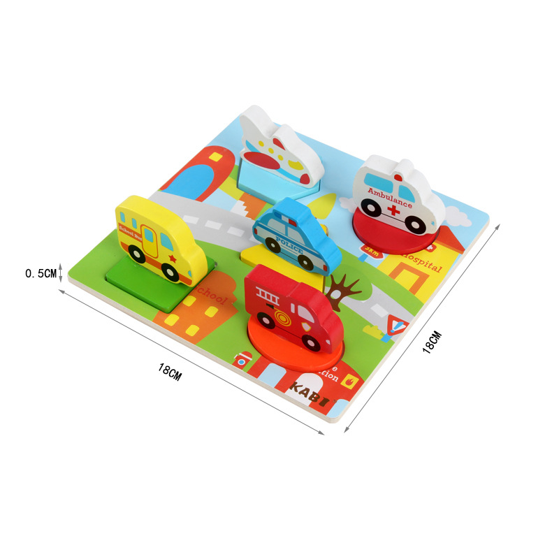 Wooden hand held jigsaw puzzles Educational toys Children 39 s Cartoon Anime Assembly 3D puzzle Baby wood Early Development Puzzle in Puzzles from Toys amp Hobbies