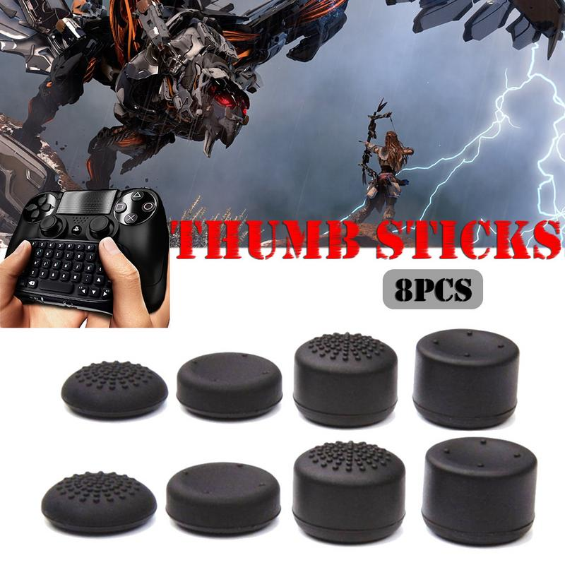2019 NEW 8 PCS Controller Accessories Video Games Heighten Mushroom Headed Silicone Cap Thumb Stick For PS4/Xbox/PS3/X360 #YL15