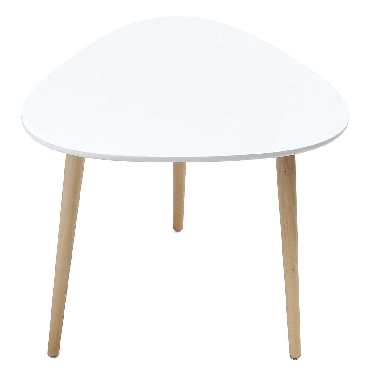 Bedside Round Table.Bedside Round Triangle Dining Table Coffee Desk 50x49cm Wood Legs Home Office Funiture Bar Cafe Furniture Decoration