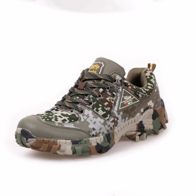 Spring Autumn Outdoor Climbing Camo Sneakers Shoes Men Hiking Hunting Camping Army Training Ultralight Breathable Sports Shoe 1