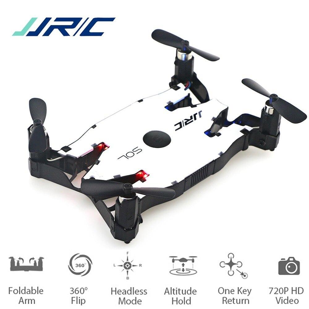 Jjr/c jjrc h49 sol ultrafinos wifi fpv selfie zangão 720 p câmera auto braço dobrável altitude hold rc quadcopter vs h37 h47 e57 dron