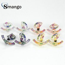 5Pairs,The Rainbow Series,The Eyes Shape Women Fashion Earrings.4 Colors, Can Mix,  Wholesale