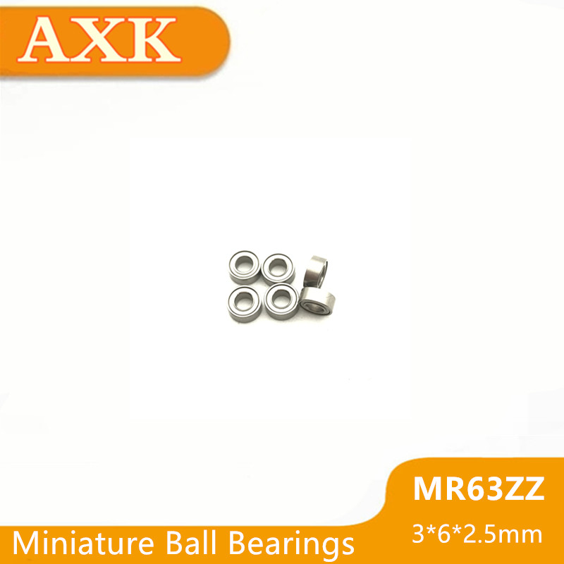 2019 New Top Fashion Mr63 Zz (100pcs) Miniature Ball <font><b>Bearings</b></font> <font><b>3x6x2.5mm</b></font> L630zz 673-2z 673zz Mr63zz Mr63z Rz 2rz Deep Groove image