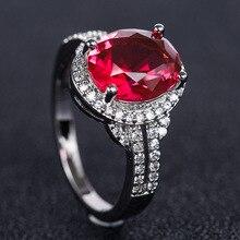 Rings diamond lady Purple Red Sea Blue Zircon Ring Personalized jewelry costume ringen natural stone B2031