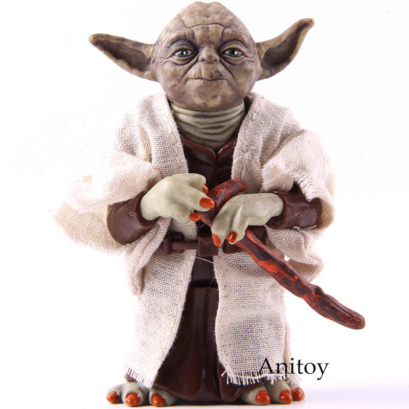 Star Wars Yoda Jedi Knight Master PVC Action Figure Collectible Model Toy Doll Hadiah 12 Cm KT2029