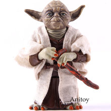 Star Wars Cavaleiro Jedi Mestre Yoda PVC Action Figure Collectible Modelo Toy Boneca Presente 12 cm KT2029(China)