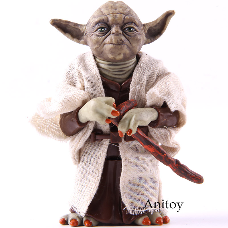 Star Wars Yoda Jedi Knight Master PVC Action Figure Collectible Model Toy Doll Gift 12cm KT2029