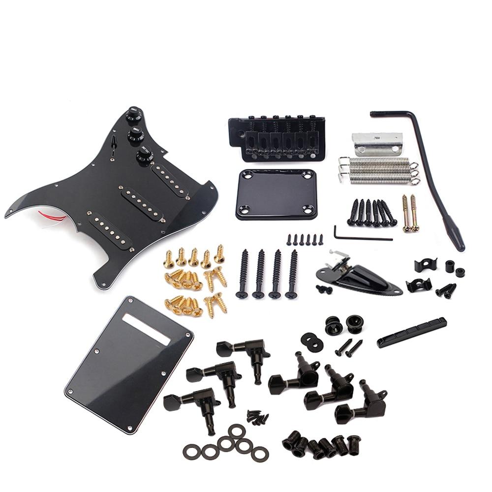 Potentiomètres micros 6 cordes guitare électrique Kit ST Style complet accessoires Kit guitare électrique accessoires Set noir couleur