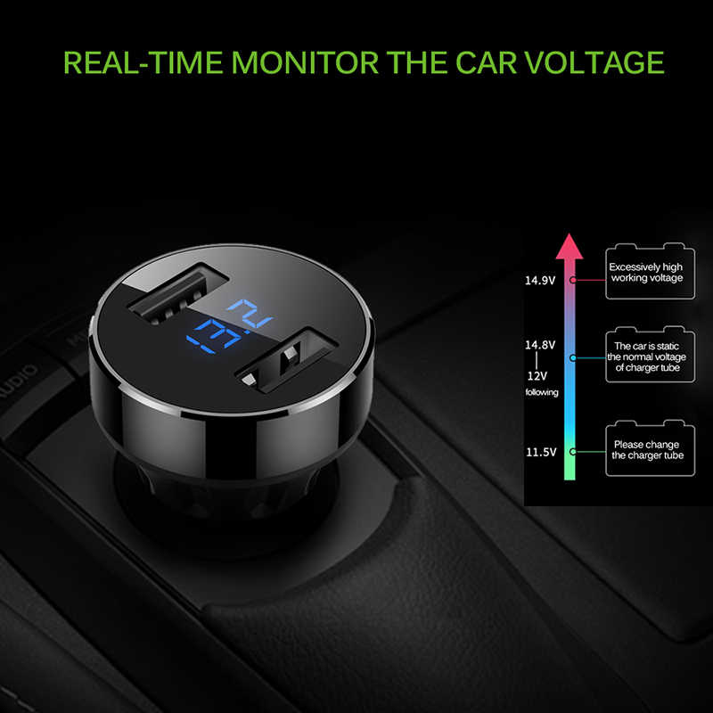 5V 4.8A 2 USB Ports Hub USB Charger Adapter For Smartphone Tablet Car Chargers For IPhone IPhone X For Xiaomi Car Accessories