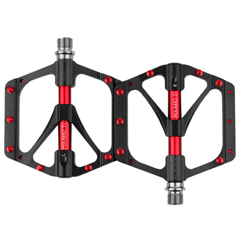 Promend pédale de vélo ti arbre vtt sport pédale Ultra légère 251g antidérapant grand bloc porter pédale de haute qualité