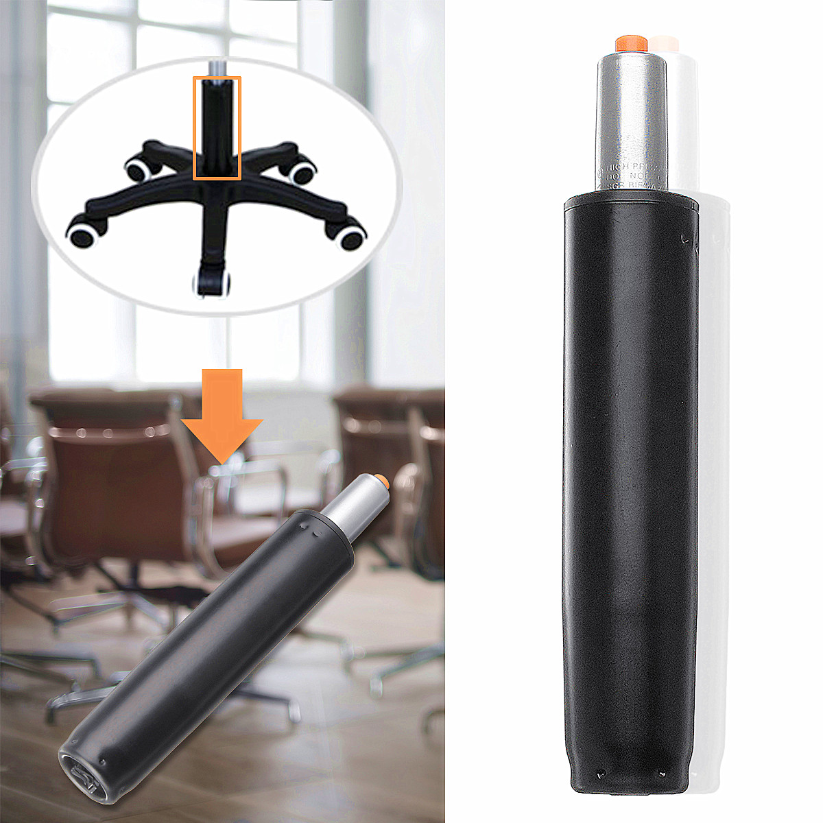 11'' Heavy   Pneumatic Rod Gas Lift Cylinder Chair Replacement Accessories Pneumatic Parts For Office Bar Computer Chairs