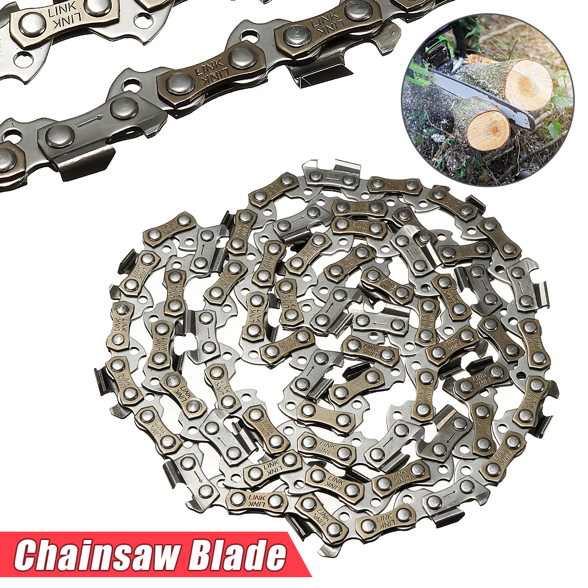 MTGATHER Meatal Chainsaw Chain 18 Blade 62 Section 3/8 LP  Saw Chain Accessory For Generic Best PriceMTGATHER Meatal Chainsaw Chain 18 Blade 62 Section 3/8 LP  Saw Chain Accessory For Generic Best Price