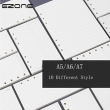 EZONE A5 A6 A7 Loose Leaf Page Refill Spiral Notebook Paper Notebook Insert Refills  Dairy Plan Finance Note Reminder Style ezone 5 sheets a6 6 holes notebook s index page paper separator page loose leaf book category page planner stationery papelaria