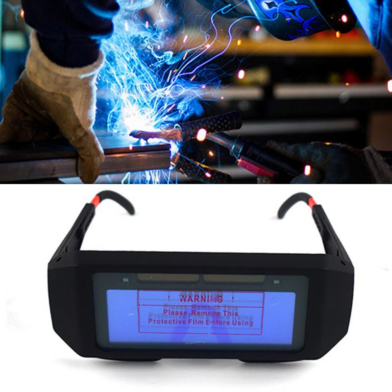 Safety Mask Automatic Eyes Goggles Solar Glasses 6 Mm Thickness Lens Welding Photoelectric Helmet For Construction Welding Work