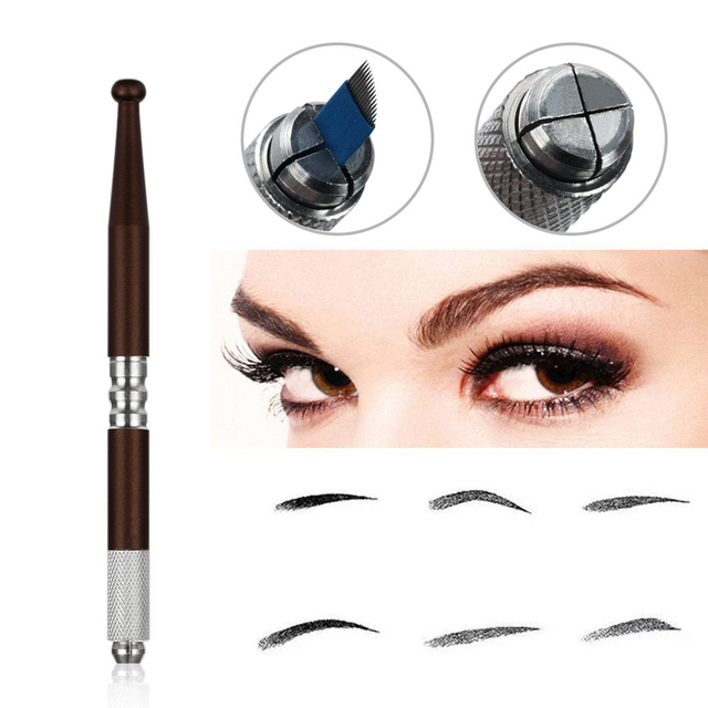 Microblading Reusable Makeup Eyebrow Guide Ruler Tattoo Positioning Stencil Ruler And Manual Pen Permanent Tattoo Tool 2