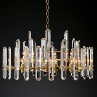 구리 led 광택 크리스탈 샹들리에 현대 미니 멀리 즘 침실 조명 luminaire 거실 샹들리에 램프 장식 램프
