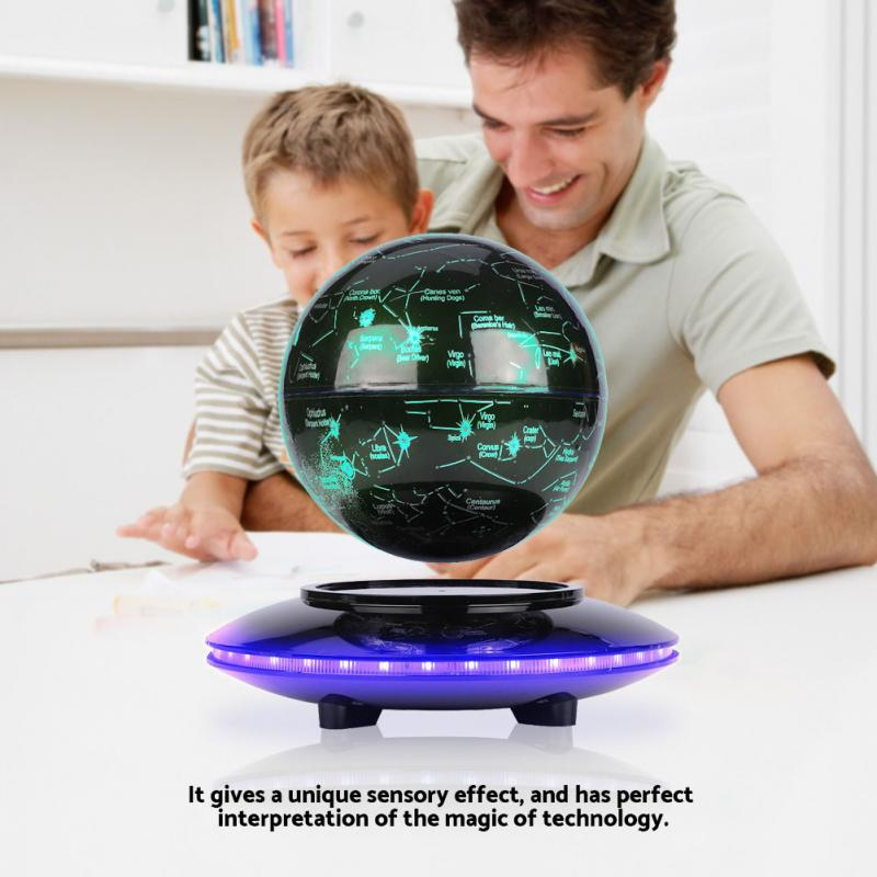 5inch Constellation Magnetic Levitation Floating Globe Earth Globe for Student School Suppliees Home Office Desk Decoration