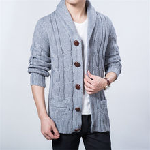 Big Size Thick Mens Knit Cardigan Sweaters 2018 Casual Turn-down Collar  Boys Sweaters 2018 Winter Loose Men Knit Wear 6c6e3944bf35