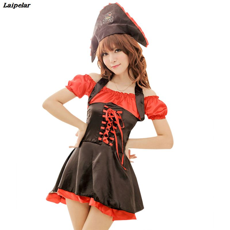 Christmas Fancy Dress.Us 8 99 2018 New Arrival Halloween Pirate Costumes Woman Christmas Fancy Dress Costume For Women Ladies Christmas Dress Cosplay Adult In Holidays
