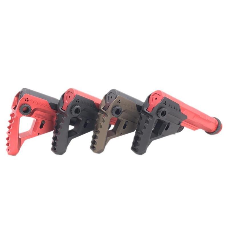 Après bout modifié CNC incrustation Type queue Stock pour AEG SI Airsoft BB ou eau balle chasse queue Support accessoires