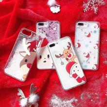 7 Desgins!!! Christmas New Year Glitter Star Dynamic Liquid Quicksand Phone Case For iPhone 5 5S 5SE 6 6S 8 Plus X XS Max