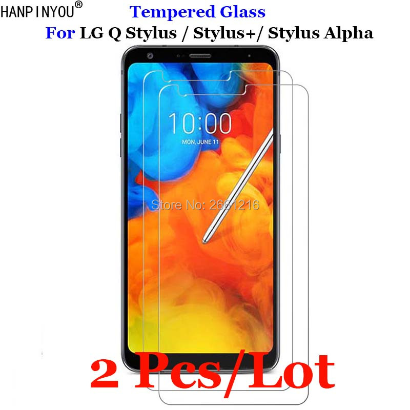 "2 Pcs/Lot For LG Q Stylus Plus / Alpha Tempered Glass 9H 2.5D Premium Screen Protector Film For LG Q Stylus Plus 6.2"""