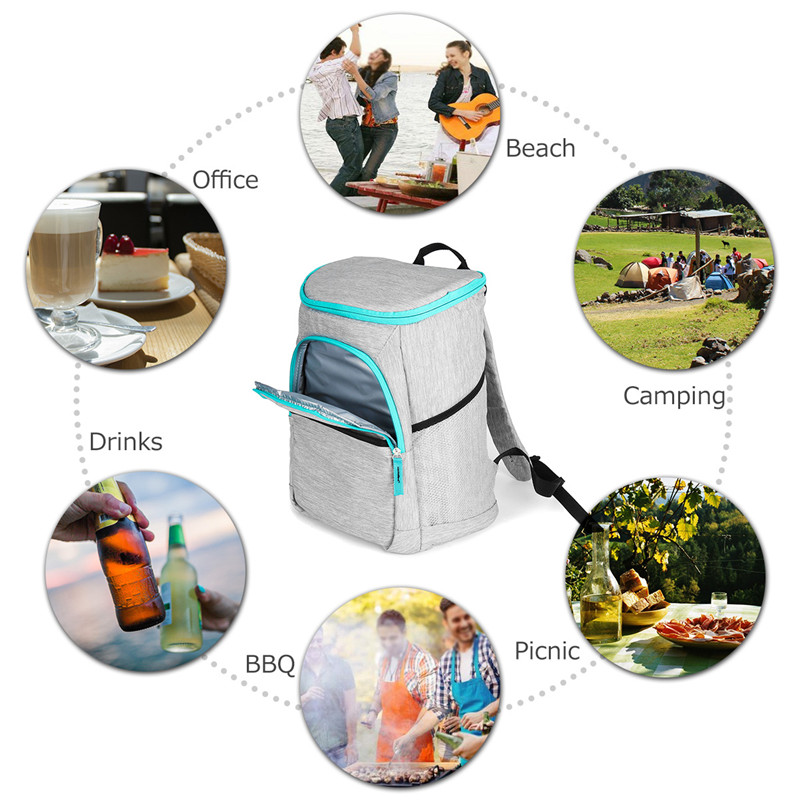 Hot 19l Insulated Cooling Backpack Picnic Camping Hiking Beach Park Ice Cooler Bag Lunch Rucksack Unisex Oxford Fabric Backpacks Big Clearance Sale Campcookingsupplies