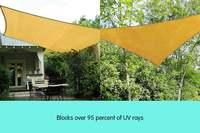 90% UV Protection Waterproof Oxford Cloth Outdoor Sun Shade Sails Sunscreen Net Yard Garden Outdoor Sun Protection Canopy