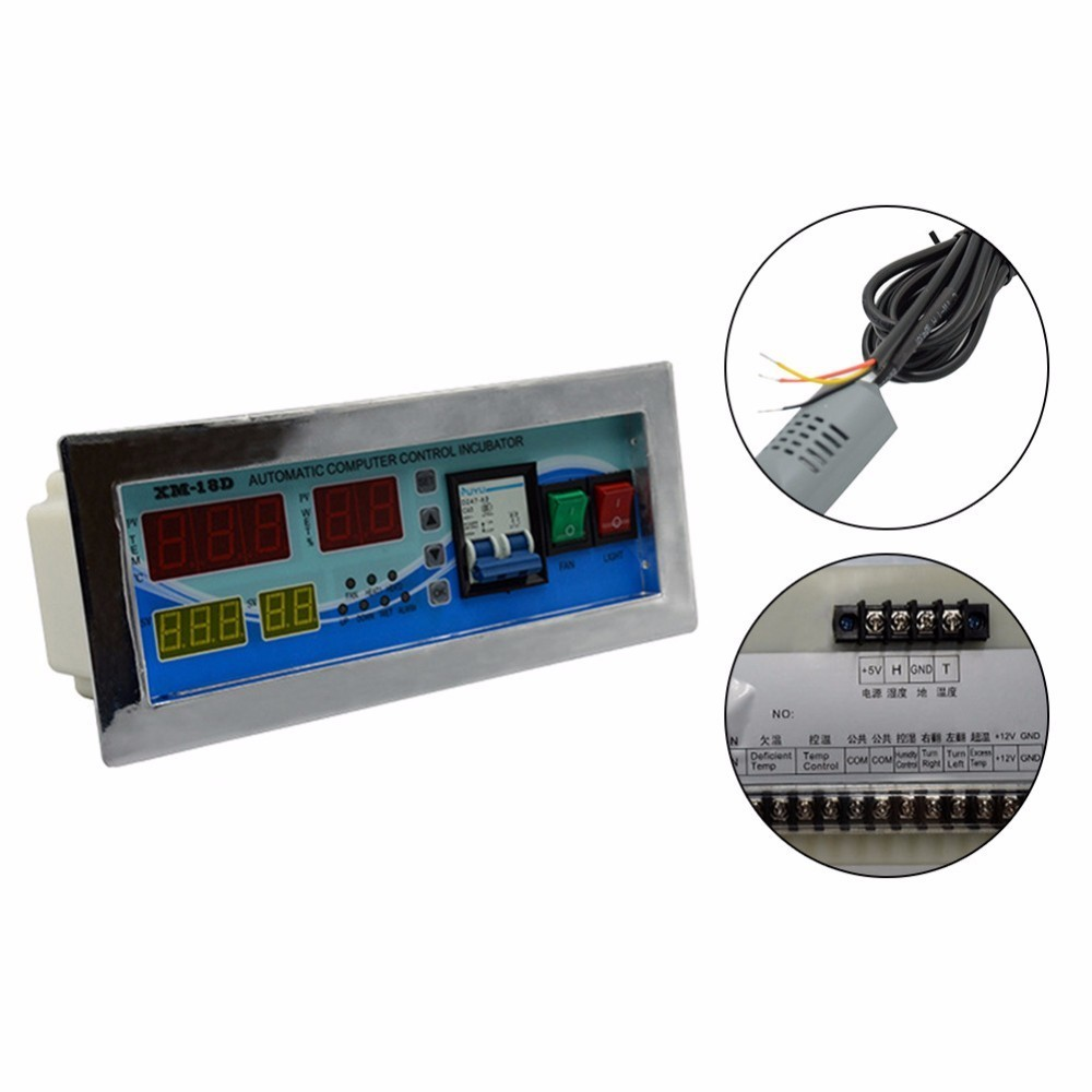 XM-18D Multifunction Controller Temperature Humidity Incubator Automatic Egg Hatcher  User-definition Chicken Duck Goose  Pigeon