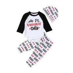 Одежда для новорожденных мальчиков и девочек, топ и штаны, комплект детской одежды, спортивный костюм, праздничная одежда, От 0 до 2 лет