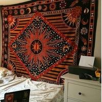 2019 Fashion Hippie Wall Hanging Yoga Digital Printing Beach Towel Sunscreen Square Shawl Vintage Indian Mandala Tapestry