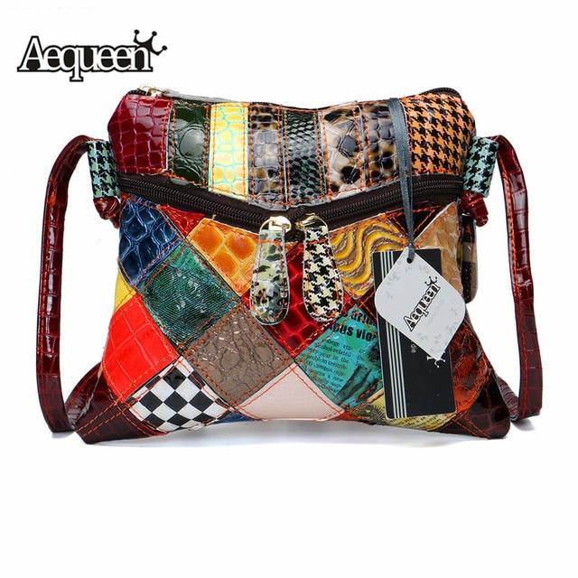 Bolsos de hombro de colores para mujer de AEQUEEN, bandoleras de diseño de almazuela con solapa pequeña, bolsos cruzados de colores brillantes