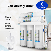 6 Stage Water Filter System UF Home Purifier Faucet Household Ultras Filtration Water Filter Kitchen Home Purifier Water Filters