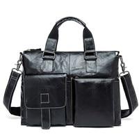 Male 14 Laptop Bags Messenger Bag For Men Leather Briefcase Lawyer Business Men's Briefcases Genuine Leather Men's Bag