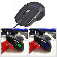 Professional Wired Gaming Mouse 7 Button 1000-5500 DPI Adjus