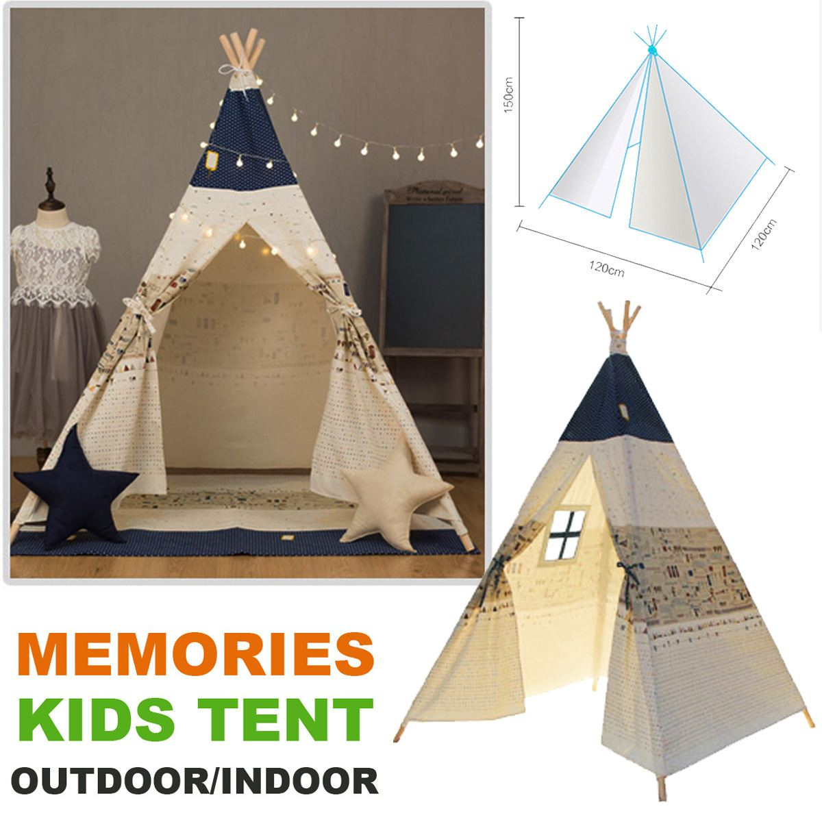 SGODDE Pet Tents Outdoor Wigwan Large Kids Play Tent Teepee Tipi Portable Folding Camping Outdoor Indoor Outdoor Puppies HouseSGODDE Pet Tents Outdoor Wigwan Large Kids Play Tent Teepee Tipi Portable Folding Camping Outdoor Indoor Outdoor Puppies House
