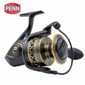 Original Penn Battle Ii Btl 2500-8000 Spinning Fishing Reel 6bb Big Sea Saltwater Boat Fishing Gear Ht-100 Drag Fishing Reel