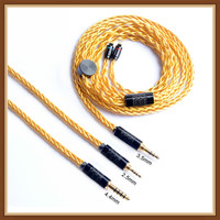 Okcsc 0 .78mm Upgrade Cable 2pin Connector 2 .5mm Balance Plug 3 .5mm /4 .4mm Jack 7 Cores 49 Wire Cord For Sony Wm1z /Wm1a