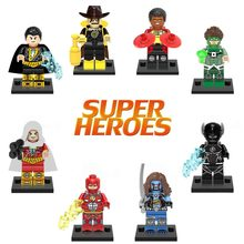 Super Heroes series Legoing Black Flash Green Lantern Firestorm Black Adam Lobo Action Figures Blocks Baby Toys Legoing(China)