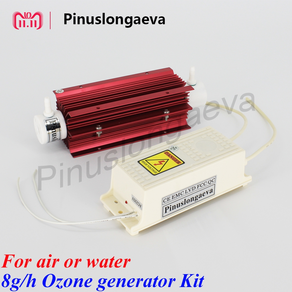 Pinuslongaeva 8g/h 8grams Quartz tube type ozone generator Kit industrialwater ozone generator for hospitals ozone o3 generator