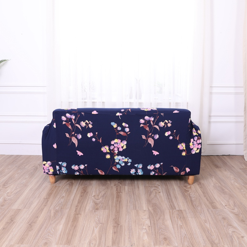 Strange Us 18 78 40 Off Royal Blue Flower Print Couch Sofa Pastoral Flexible Spandex Cover With Free Cushion Case Elastic Stretch Tight Linen In Sofa Cover Spiritservingveterans Wood Chair Design Ideas Spiritservingveteransorg