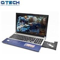 15,6 Core i7 игровой тетрадь PC 8 Гб RAM SSD 128 ГБ/64 + 750 ТБ/1 ТБ жесткий диск процессор Intel Металл арабский AZERTY Испанский Русский Клавиатура