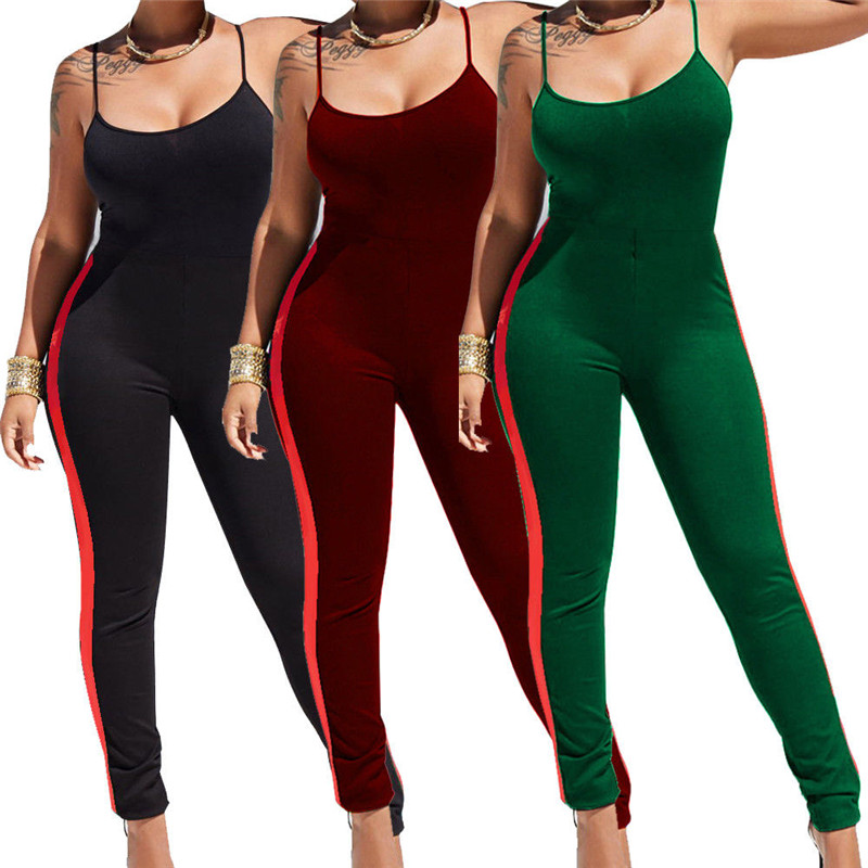 New 2019 Women Summer Sexy   Jumpsuit   Clubwear Suspenders Bodycon   Jumpsuit   Sleeveless Club Romper Long Trousers Fitness   Jumpsuits