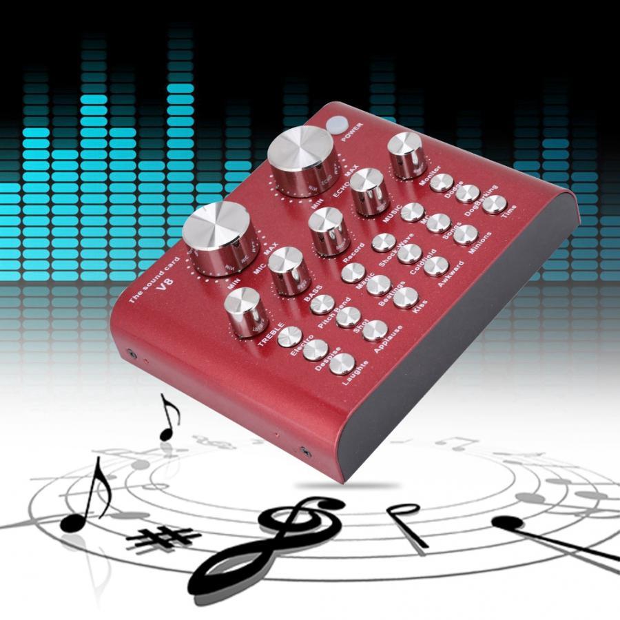Fein Digitale Audio Mixer Externe Usb Audio Mischer Mobilen Computer Pc Live Soundkarte Headset Karaoke Mikrofon Sound Mixer