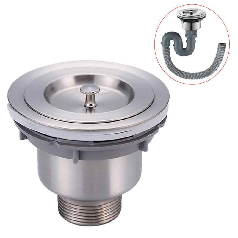 Stainless Steel Kitchen Sink Drain Assembly Waste Strainer And Basket Strainer Stopper Waste Plug Sink Filter Drains Aliexpress