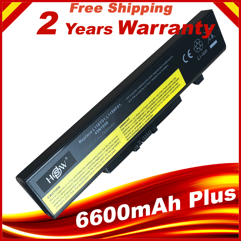 7800mAh Laptop Battery FOR LENOVO G580 Z380 Z380AM Y480 G480 V480 Y580 G580AM L11S6Y01 L11L6Y01