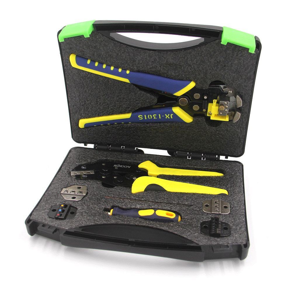 KKmoon Professional Wire Crimpers Terminals Pliers Kit Multifunctional Engineering Ratcheting Terminal Crimping Pliers