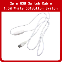 цена на 1~10pcs 1.5M USB LED Extension Cable Wire with ON/OFF Switch for Rigid LED Strip Hard Bar lights ,Night Book Desk light,DIY fan