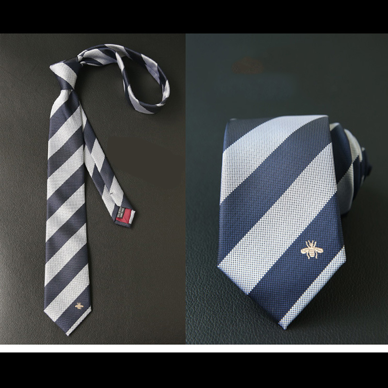 Male Tie Personality Embroidery Business Casual Animal Bee Fashion Korean Black British Wild Female Tie
