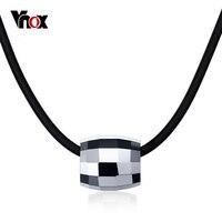 Vnox панк Вольфрам Для мужчин Цепочки и ожерелья серебро Цвет Ожерелья и подвески Бесплатная черный цепи 20